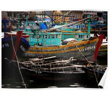 Vietnam fishing boats Poster