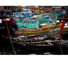 Vietnam fishing boats Photographic Print