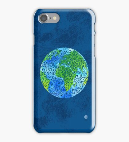 Swirly Earth iPhone Case/Skin