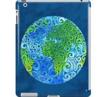Swirly Earth iPad Case/Skin