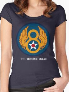 8th Airforce Emblem  Women's Fitted Scoop T-Shirt
