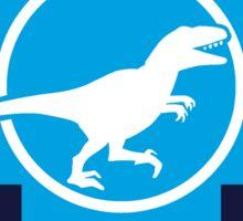 Don't Cross Blue | Jurassic Raptor Sticker