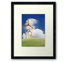 Windmill in the horizon. Framed Print