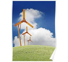 Windmill in the horizon. Poster
