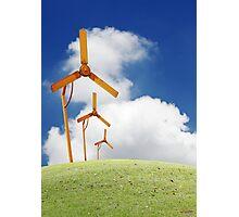 Windmill in the horizon. Photographic Print