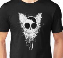 Bat Skull - Black And White Unisex T-Shirt