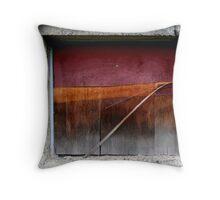 Plywood Window Throw Pillow