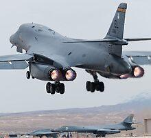 B-1B Afterburner Takeoff by gfydad