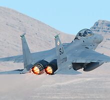 Strike eagle Departure with Afterburners by gfydad