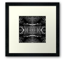 Black version tree branches pattern Framed Print