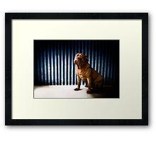 Mercury Blue Wall Framed Print