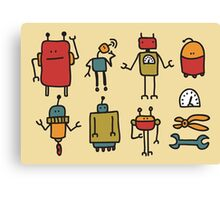 Retro robots. Canvas Print