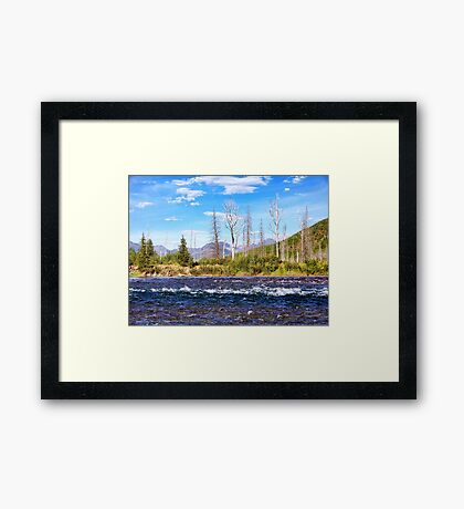 View into Glacier National Park (Montana, USA) Framed Print