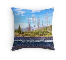 View into Glacier National Park (Montana, USA) Throw Pillow