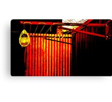 red clothes line Canvas Print