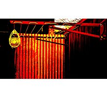 red clothes line Photographic Print