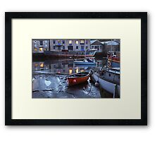 Old Boats at Dusk Framed Print