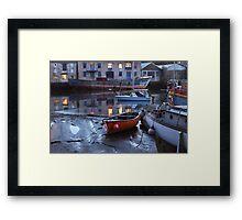 Old Boats at Dusk Framed Print