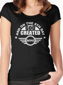And On The 8th Day God Created Mini Cooper Car Fan Gift Women's Fitted Scoop T-Shirt