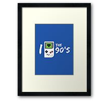 I Love the 90's Framed Print