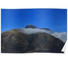 Band of Cloud on Mount Cotacachi Poster