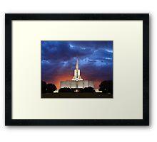 Jordan River Temple Stormy Sunset 20x24 Framed Print