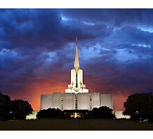 Jordan River Temple Stormy Sunset 20x24 Photographic Print