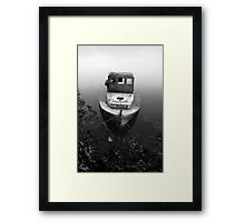 Wreck in the Mist Framed Print