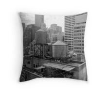 Manhattan Roof Throw Pillow