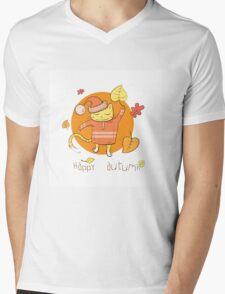 Happy autumn. Mens V-Neck T-Shirt