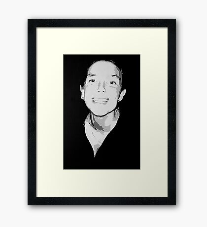 Abstract portrait in acrylic Framed Print