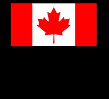 "Canadian Flag, National Flag of Canada, Canada, ""A Mari Usque Ad Mare""  Pure & Simple on Black,  by TOM HILL - Designer"
