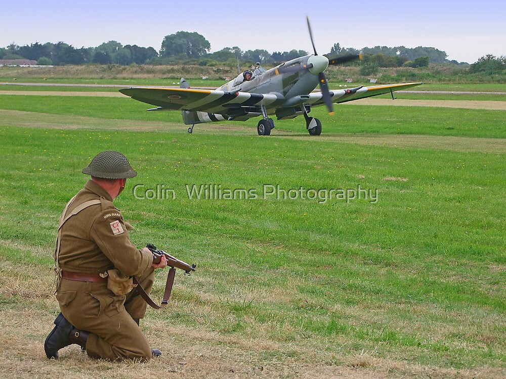 Battle Of Britain Scamble by Colin  Williams Photography