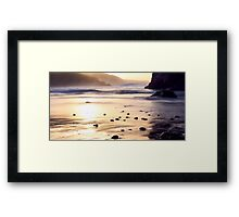 Sunrise at Kennack Sands, Cornwall Framed Print