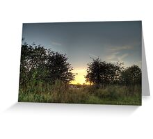Sunset x2 Greeting Card