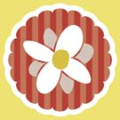 Candy stripe flower by Amy Lewis