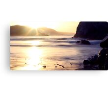 Sunburst at Kennack Sands, Cornwall Canvas Print