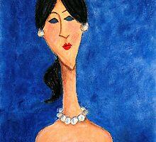 Seule au bal azur - Alone at the ball azur by Cris Motta