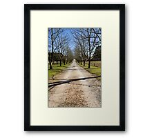 The Drive Framed Print