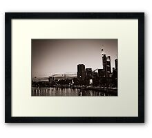Frankfurt / Main - Skyline Framed Print