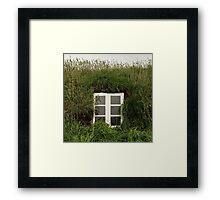 Icelandic turf house Framed Print