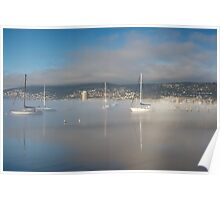 Boats off Battery Point, Hobart, Tasmania Poster