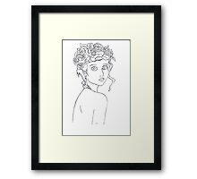 Pretty girl Framed Print