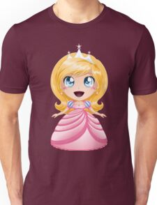 Blond Princess In Pink Dress Unisex T-Shirt