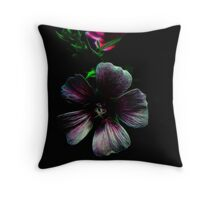 Tiny Lilac Fractal Lovers Throw Pillow