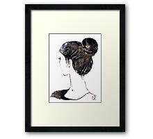Chignon mignon Framed Print