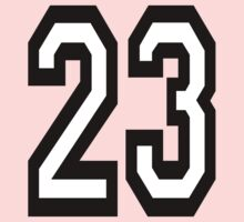 23, TEAM SPORTS, NUMBER 23, TWENTY, THREE, Competition,  Kids Clothes
