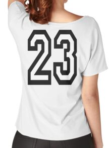23, TEAM SPORTS, NUMBER 23, TWENTY THREE, two, three, Competition,  Women's Relaxed Fit T-Shirt
