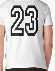 23, TEAM SPORTS, NUMBER 23, TWENTY, THREE, Competition,  Mens V-Neck T-Shirt