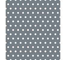 Small White Polka Dots on CoolGrey background Photographic Print